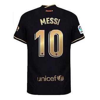 Men's Football Jersey 2020-2021 Season Messi #10 Mens Barcelona Away Soccer T-shirts Jersey Color Black/gold