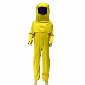 Kinder Jungen Mädchen unter uns Spiel Jumpsuit Kopf Dekor Tasche Cosplay Kostüm Fancy-Anzug