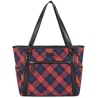 """Stylish 15.6"""" Laptop Tote Bag For Women, Shoulder Laptop Tote Bag Briefbag,red"""