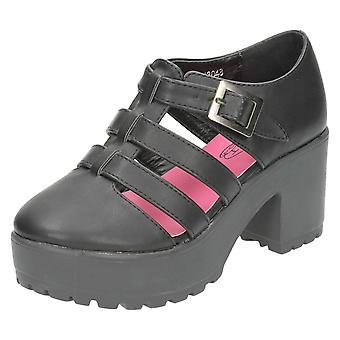 Девочек пятно на высокой платформе Strappy обувь H3048
