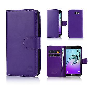 32. Buch Wallet Case + Stift für Samsung Galaxy J3 (2017) J327P - lila