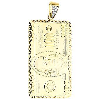 Premium Bling - 925 sterling silver dollar bill przyczepy