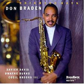 Don Braden - Brighter Days [CD] USA import