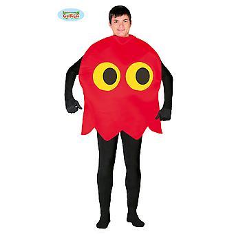 Uttrykksikon rødsprit 80 retro spillet kostyme mens kostyme én størrelse