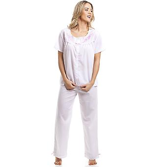 Camille Classic Pink Dot manica corta bianco pigiama Set