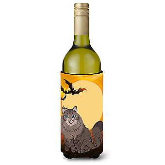 Halloween Siberian Cat Wine Bottle Beverge Insulator Hugger