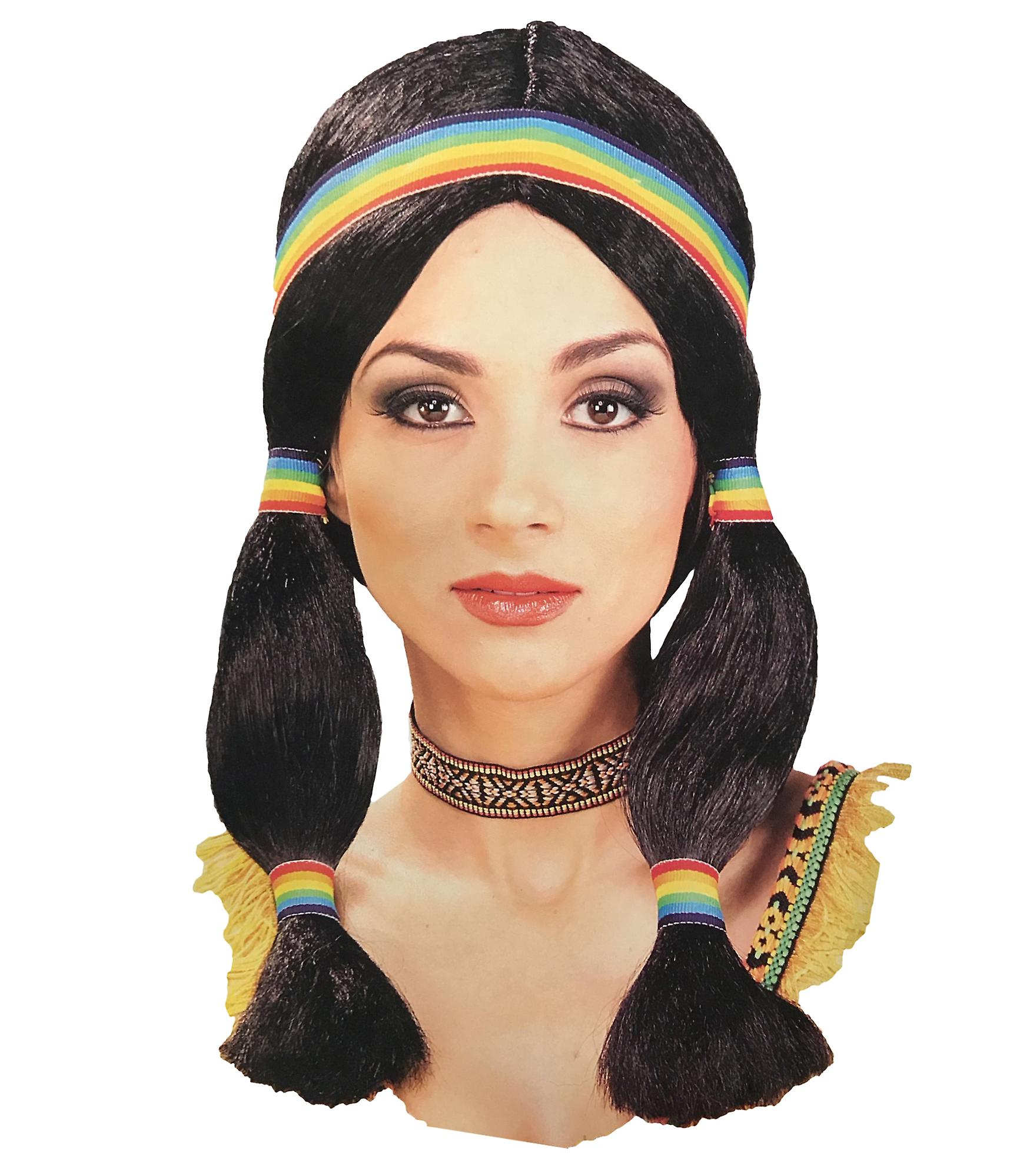 Native American Pocahontas Indian Princess Western Women Costume Wig