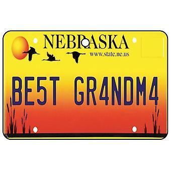 Nebraska - Best Grandma License Plate Car Air Freshener