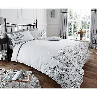 Maria fleurs 4Pc housse de couette avec drap housse Floral polyester/coton Bedding Set