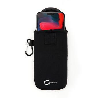 InventCase Neoprene Protective Pouch Case for OnePlus 6 - Black