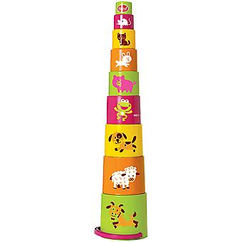 Gowi Toys Animal Stacking Toys Stacker Shapes Building Toy