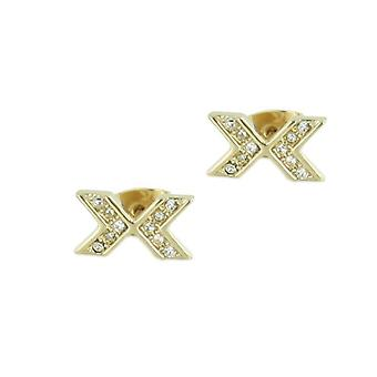 Skagen women's earrings shiny light gold JEG0015