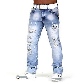 Men Jeans Designer Destroyed Destroyed Slim Fit Club Wear Look Buff