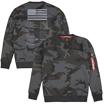 Alpha Industries Herren Sweatshirt Blood Chit Print
