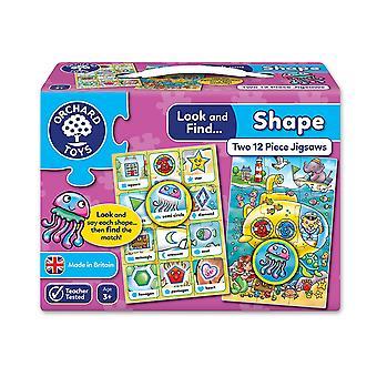 Olhar de brinquedos de pomar e encontrar forma de Jigsaw - 2 em uma caixa