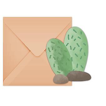 Lama Cactus part inbjudan kort 6 bit barn tema födelsedagsfest