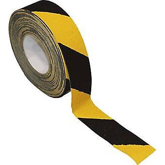 B-AR246050 בטיחות ציפוי נגד החלקה ניתן לדמות צהוב, שחור (L x W) 18.3 m x 50 mm