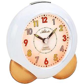 Atlanta 1733/12 vækkeur til børn kvarts analog børn alarm clock orange blød