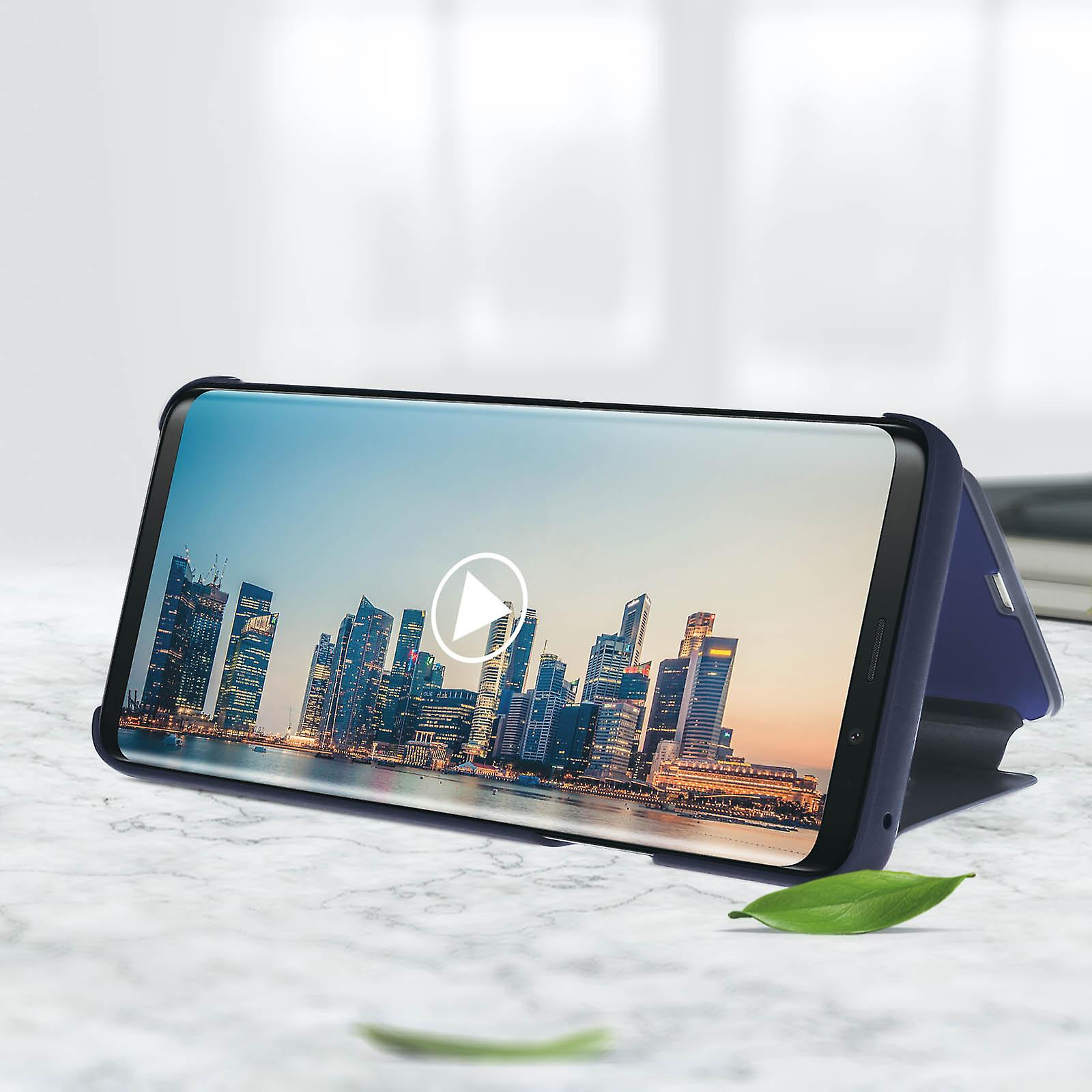 Officielle Samsung Clear View stående Cover til Samsung Galaxy S9 Plus -blå