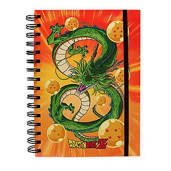 Dragon Ball Z notebook Shenron DIN A5, hardcover with spiral binding, lined with rubber band.