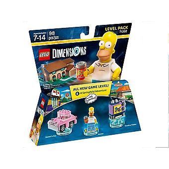 The Simpsons LEGO 71202 Level package