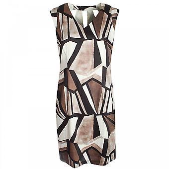 Marie Mero Sleeveless Print Shift Dress