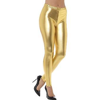 80-luvulla metallinen Disco leggingsit, kulta