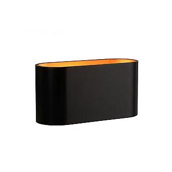 Lucide Xera Modern Oval Aluminum Black Wall Light