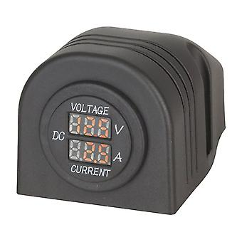 TechBrands Panel/Surface Mount LED Voltmeter and Ampmeter