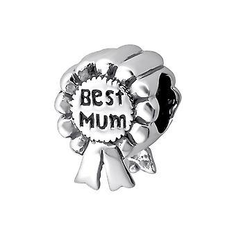 Beste Mama Award - 925 Sterling Silber Plain Beads - W13785X