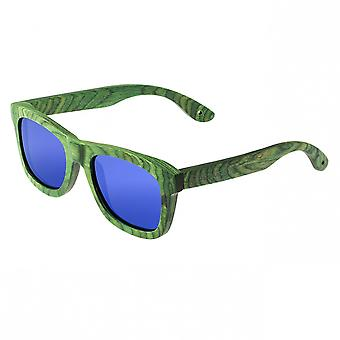 Spectrum Slater Wood Polarized Sunglasses - Green/Blue