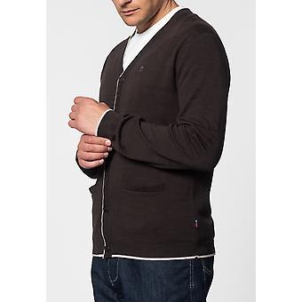 Merc RYAN, v-neck tipped cardigan