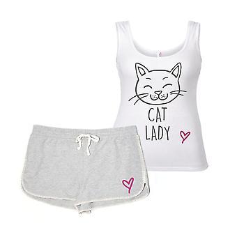 Conjunto de pijama de mulher gato