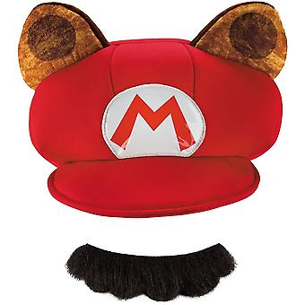 Szop kapelusz i wąsy dla dorosłych