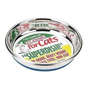 Classic Non Slip Cat Stainless Steel Superdish