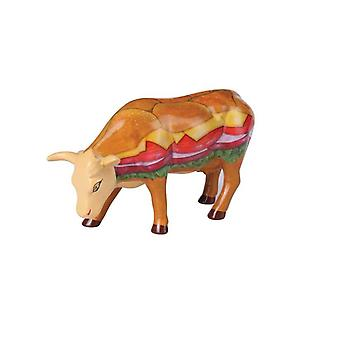 Cow Parade Moovin Veggie Burger (medium ceramic)