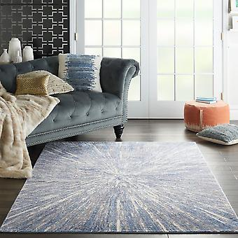 Silky Textures SLY05 Blue Grey  Rectangle Rugs Modern Rugs