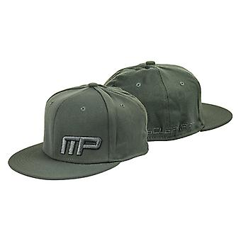 MusclePharm Mens MP Flat Bill Fitted Hat - Gray