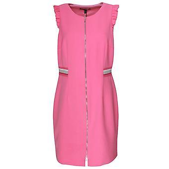 Marie Mero Pink Zip Up Front Sleeveless Shift Dress