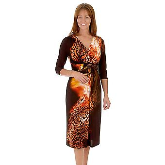 Anonymes Kleid A5037 Orange