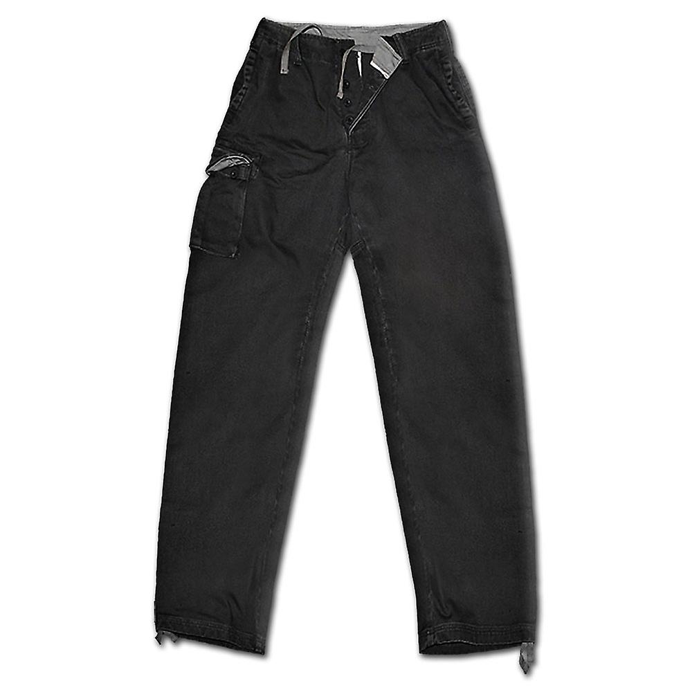 Spiral Direct Gothic METAL STREETWEAR - Vintage Cargo Trousers Black|Metal