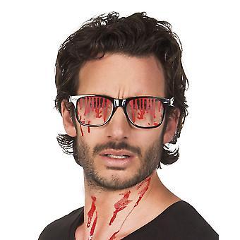 Bloed gekleurd bril Halloween fancy dress accessoire