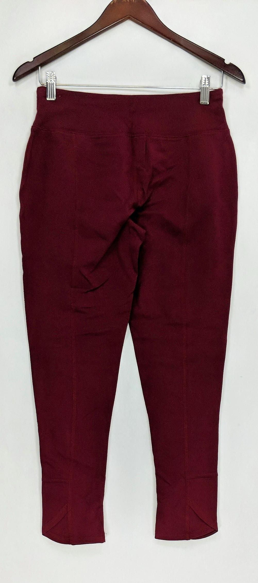 Denim & Co. Petite Leggings XSP Active Pull-On Knit Burgundy Red A294038 vuZDKb