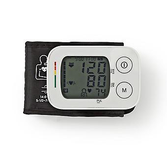 Nedis BLPR100WT Handgelenk Blutdruckmessgerät Lcd Zeit/Datum 4x 30 Speicherspeicher