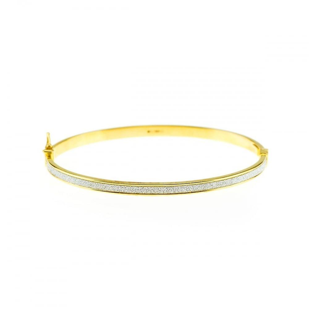 Eternity 9ct Gold Oval Stardust Bangle