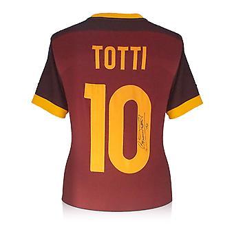 Francesco Totti Signed AS Roma Authentic Football Shirt 2015-16