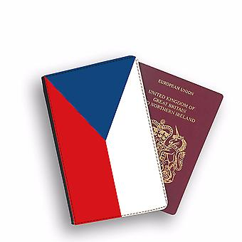 CZECH REPUBLIC Flag Passport Holder Style Case Cover Protective Wallet Flags design