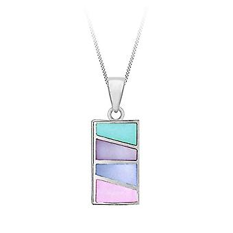 Tuscany Silver Chain Necklace with Silver Silver Pendant Sterling 925 - with Mother of Pearl - 41-46 cm 8.43.7860