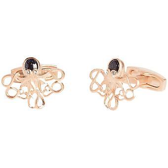 Simon Carter Darwin Octopus Cufflinks - Rose Gold/Black