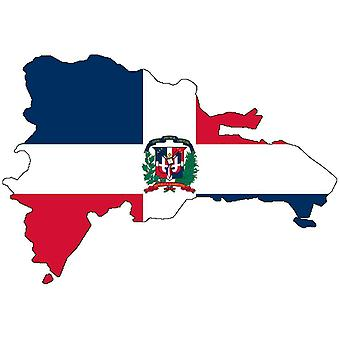 ملصق ملصقا Adhesif الفينيل سيارة العلم جمهورية الدومينيكان بطاقة